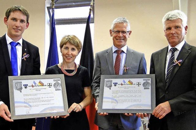Wasenweiler und Wattwiller feiern ihre Partnerschaft