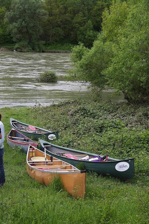 Wenn sich der sonst so beschauliche Al...ten  Boote auf dem Trockenen bleiben.   | Foto: Martin Pfefferle
