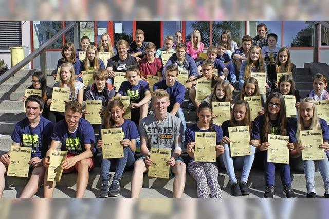 Minimarathon: Bonndorfer Schüler laufen vorne mit