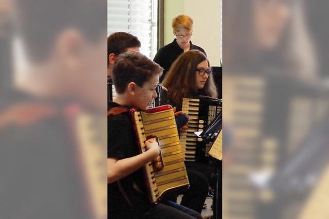 Harmonikaspieler bewegen sich auf hohem Niveau