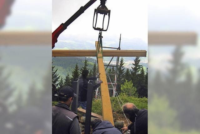 Das neue Kreuz steht gut