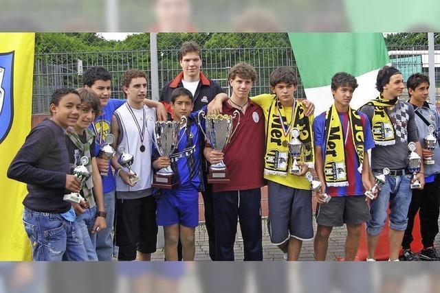 Junge Sportler starten für ein gemeinsames Europa
