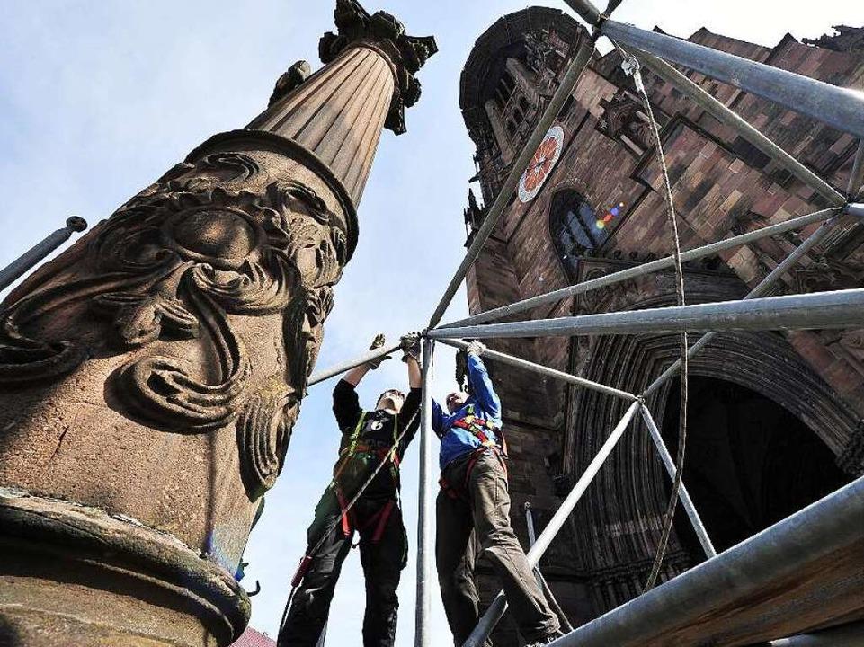 Bewährte Konstruktion: Was restauriert... – wie hier die Patronatssäulen.  | Foto: Thomas Kunz