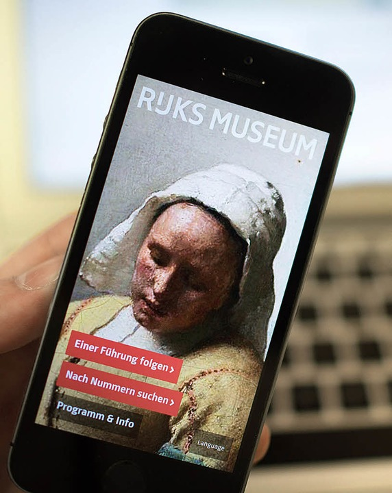 Die  App des Rijksmuseum Amsterdam     | Foto:  Matthias Balk (dpa)