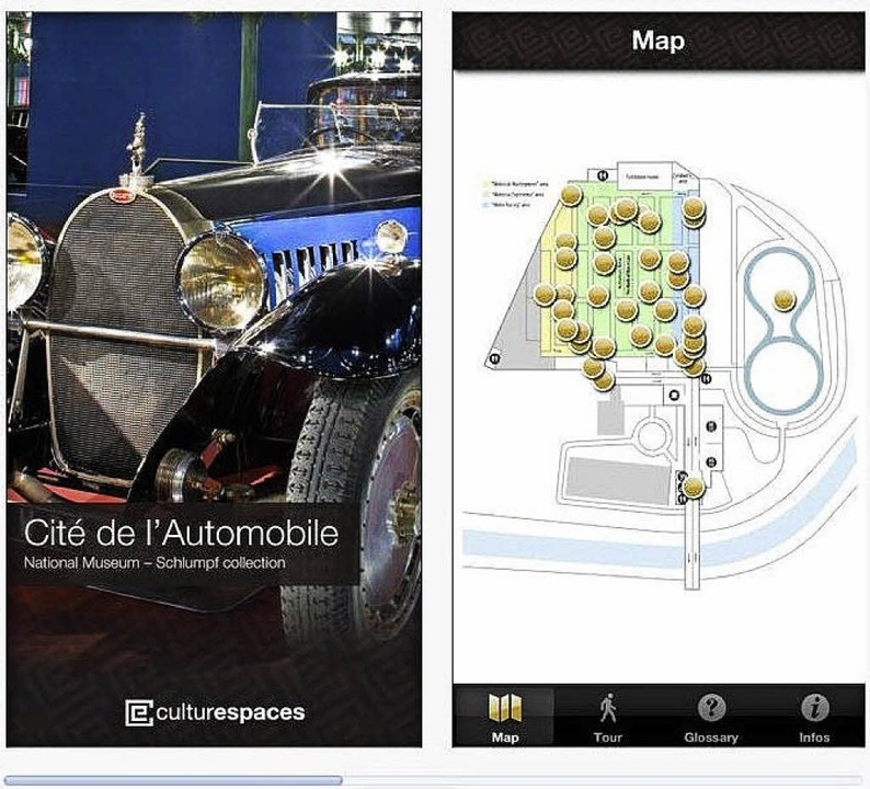 Die App des Automuseums in Mulhouse   | Foto: Screenshot: BZ