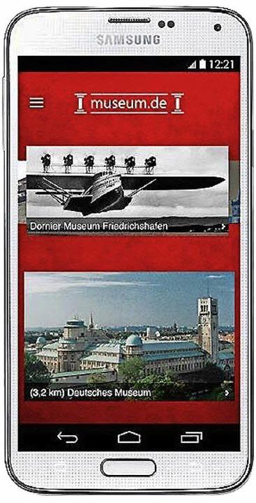 Die App von museum.de  | Foto: Screenshot: BZ
