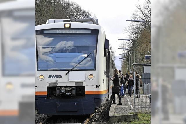 Anwohner befürchten mehr Lärm, wenn die Breisgau S-Bahn ausgebaut wird