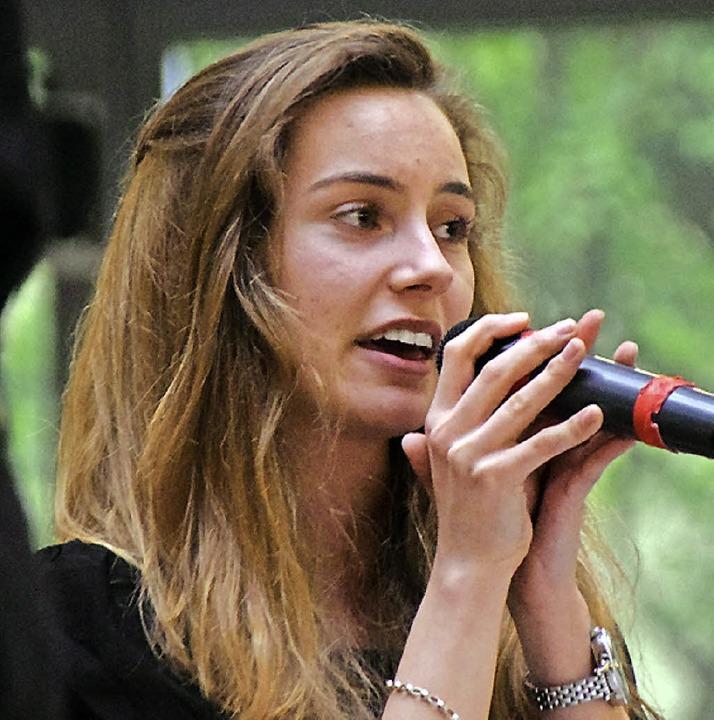Luise-Sophie Löprich hat eine tolle Jazz Stimme.   | Foto: Sarah Nöltner