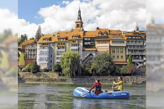 Rheinfahrt im Gummiboot