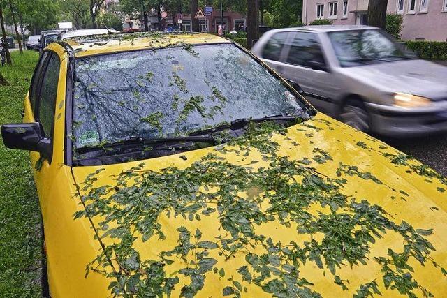 Hagelschäden an Autos: Kfz-Versicherung will Sammelstellen einrichten