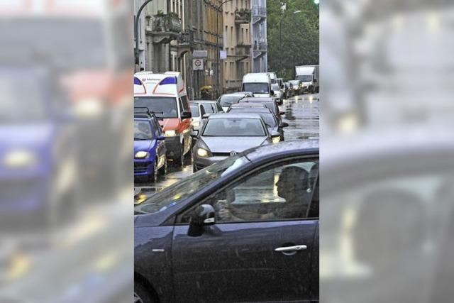 Verkehrschaos quer durchs Stadtgebiet