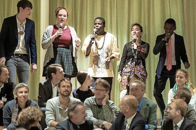 Das Ensemble des Robert-Bosch-Colleges beim Museumtag in Freiburg