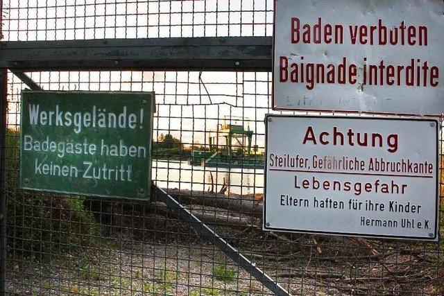 Todesfalle Baggersee: Im Raum Emmendingen wird aufgerüstet