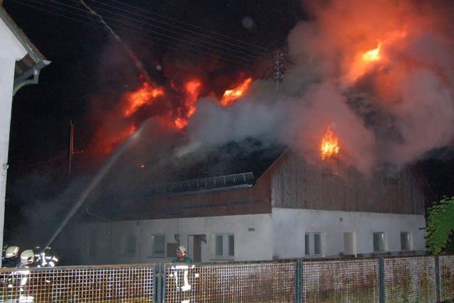 Scheunenbrand in Waldkirch-Buchholz – keine Verletzten