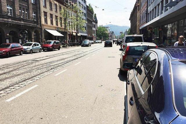 Verkehr läuft in Freiburgs neuer Problemzone