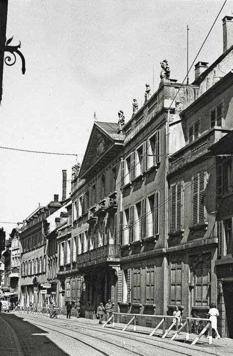 Das Palais Sickingen, aufgenommen im S...44, wenige Monate vor der Zerstörung.   | Foto: Augustinermuseum