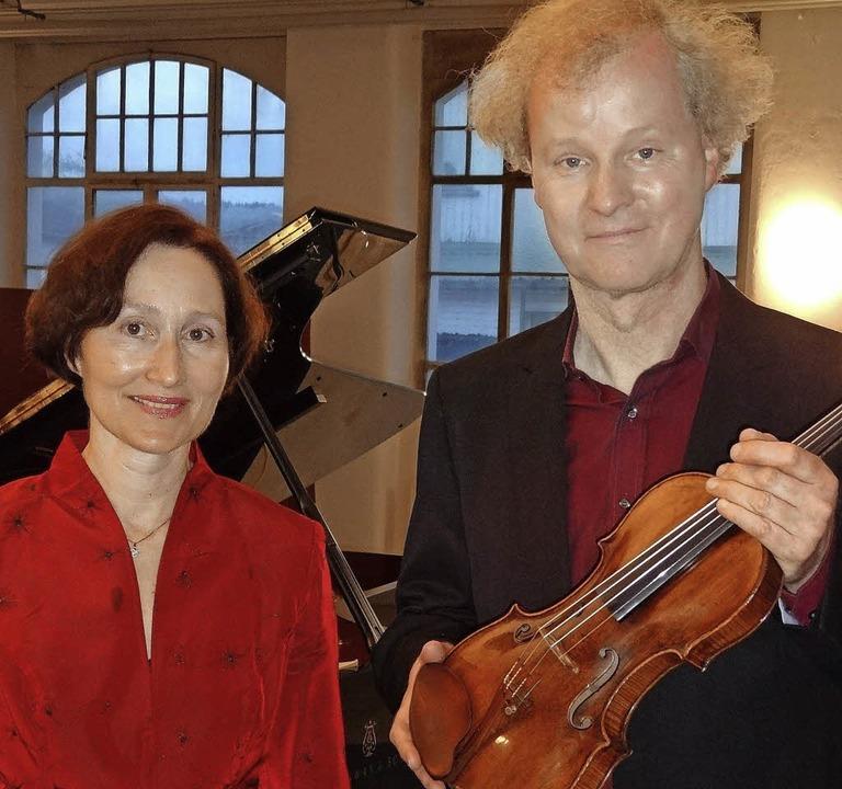 Die Pianistin und Leiterin der Konzertreihe Andrea Kauten und Kolja Lessing   | Foto: Steinebrunner
