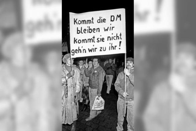 Als das Hartgeld in die DDR kam