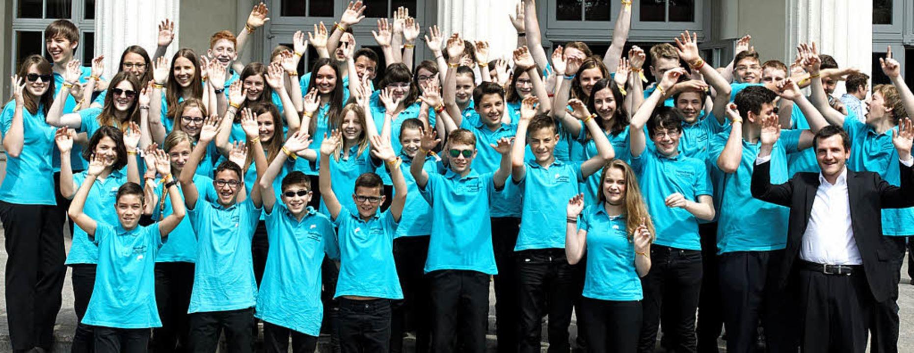 Gute Stimmung bei der Jugendkapelle in Karlsruhe     Foto: Stadtmusik/Jugendkapelle
