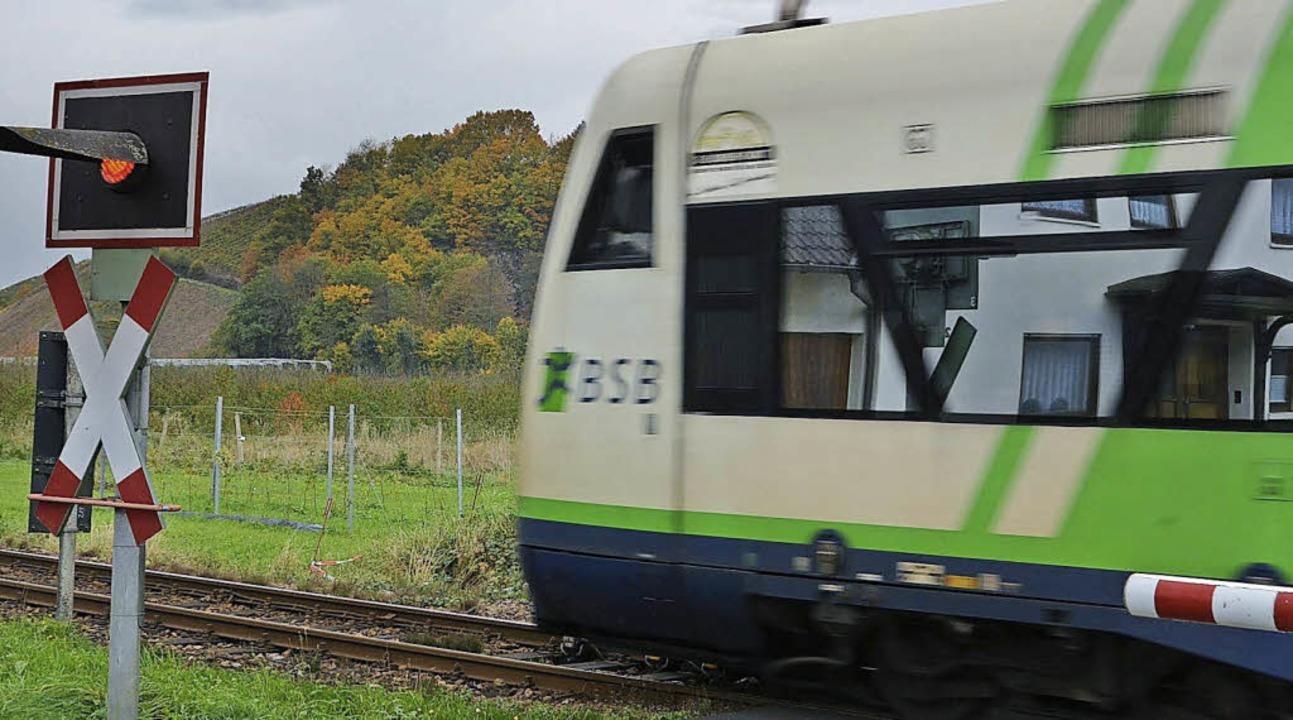 Die Breisgau-S-Bahn in Batzenhäusle bei Waldkirch  | Foto: Bernd Fackler