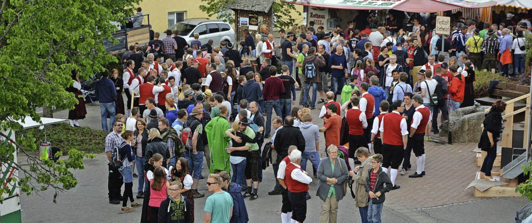 Das Fest des Musikvereins Riedern am W... weniger Stunden quasi zum Volksfest.   | Foto: Patrick Burger