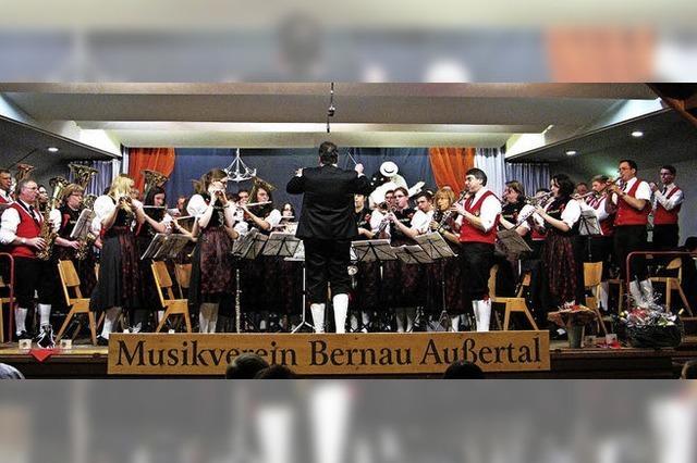Jahreskonzert der Trachtenkapelle Bernau Außertal in Bernau