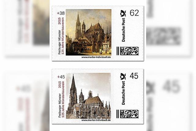 Sonder-Briefmarken mit dem Freiburger Münster