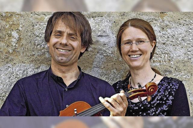 Sabine Pander (Klavier) und Sebastian Wohlfarth (Viola) im Kultur- und Vereinshaus Gundelfingen und in der Ev. Kirche Kirchzarten
