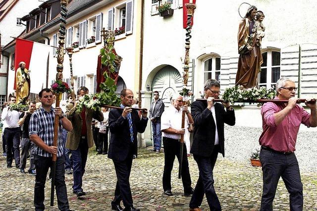 Prozession zu Ehren von Sankt Pankratius