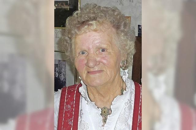 Sofie Müller wurde 80 Jahre