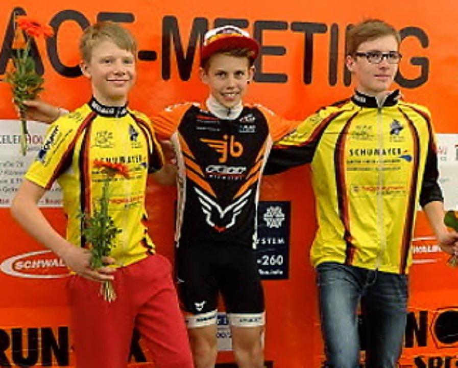 Lars Kämmlein (Mitte) wurde Zweiter  beim Sichtungsfahren.   | Foto: zVg