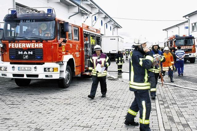 Feuerwehreinsatz bei MTS