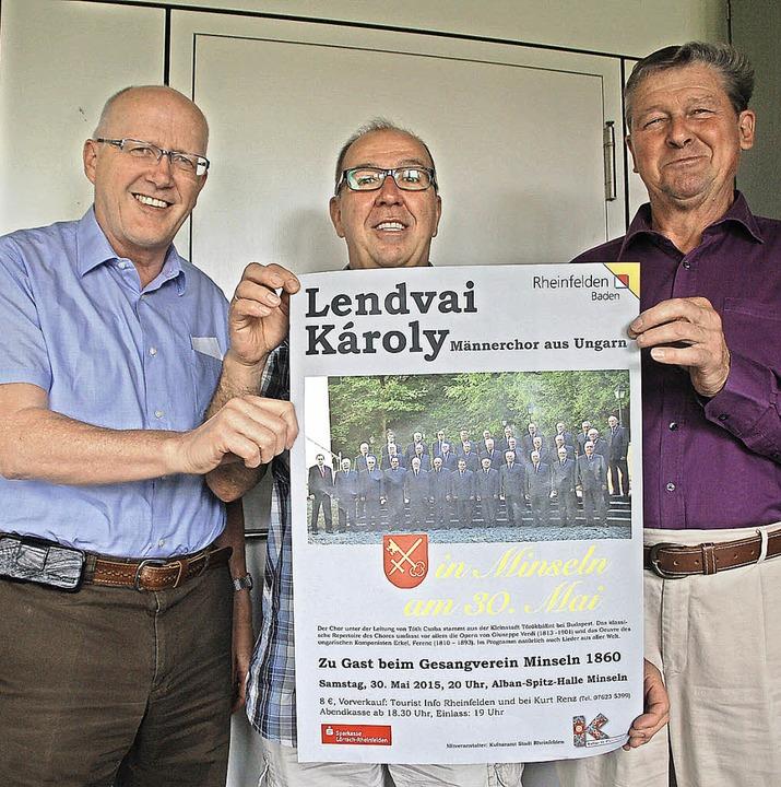 Bürgermeister Rolf Karrer (von links),...euen sich auf das Konzert am 30. Mai.   | Foto: Petra Wunderle