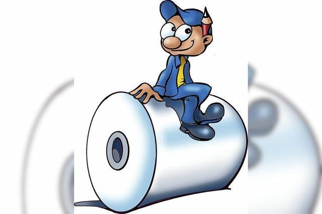 Wow, eine Papierrolle wiegt 1,7 Tonnen
