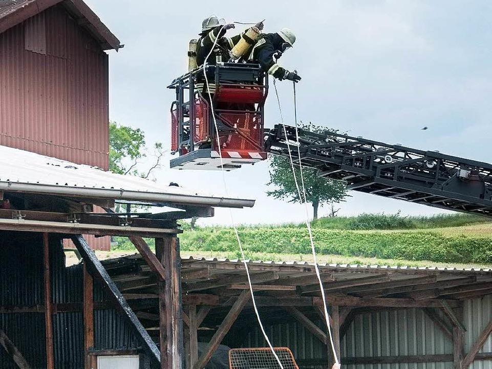 Der Brand war an einer Scheune ausgebrochen.  | Foto: Olaf Michel (Bilder-Michel.de)