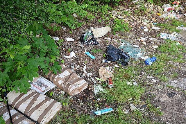 Naherholungsgebiet – und illegale Müllkippe