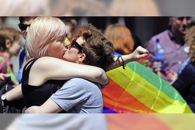Befürworter der gleichgeschlechtlichen Ehe im Aufschwung