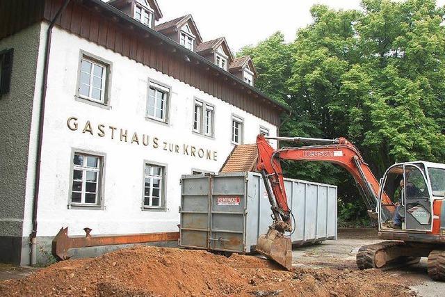 Die Traditionsgaststätte Krone wird abgerissen