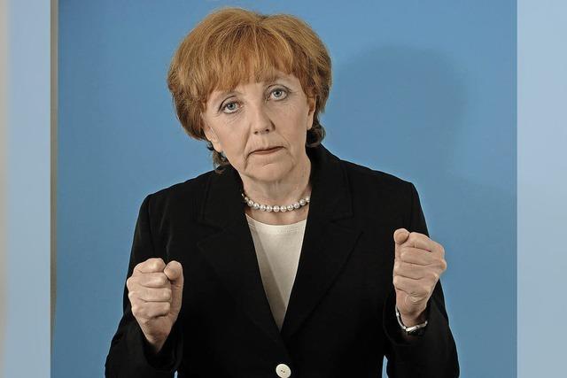 Marianne Schätzle als Merkel-Double in Badenweiler