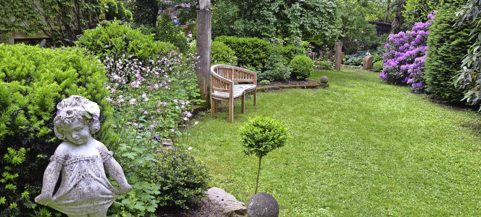 Gern besuchten Gartenliebhaber den Gar...nriette und Rudolf Brugger im Dammweg.  | Foto: Sarah Trinler