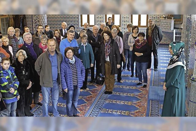 Offene Tür in der Moschee
