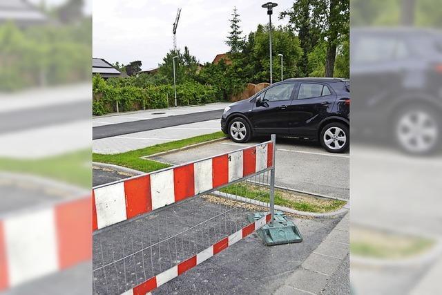 20 neue Parkplätze im Kernort warten auf Freigabe