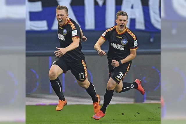 Karlsruhe und Hamburg trennen sich im Hinspiel 1:1