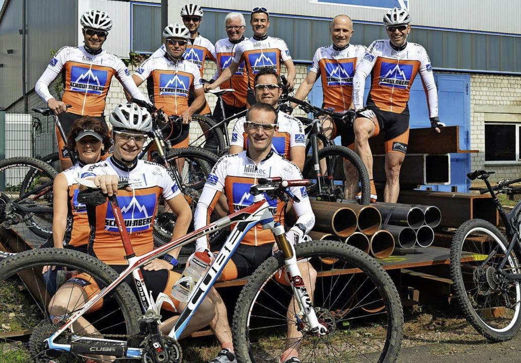 Mit der Härte des Stahls ihres Sponsor...auch beim Ultra-Bike in Kirchzarten.    | Foto: Gerhard Lück