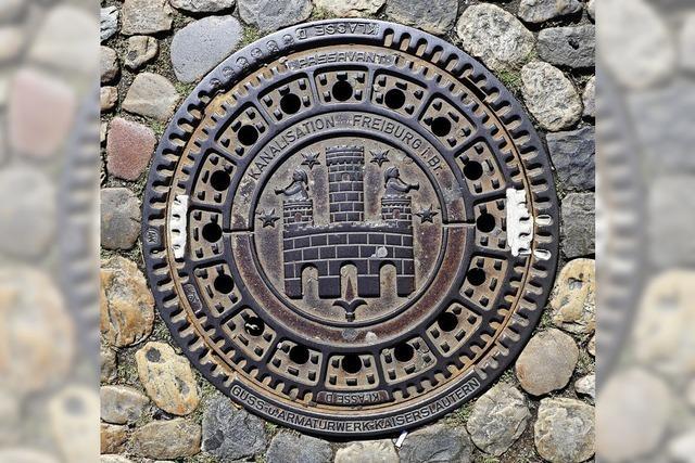 Warum auf den Gullydeckeln in Freiburg das Wasserschlössle zu sehen ist