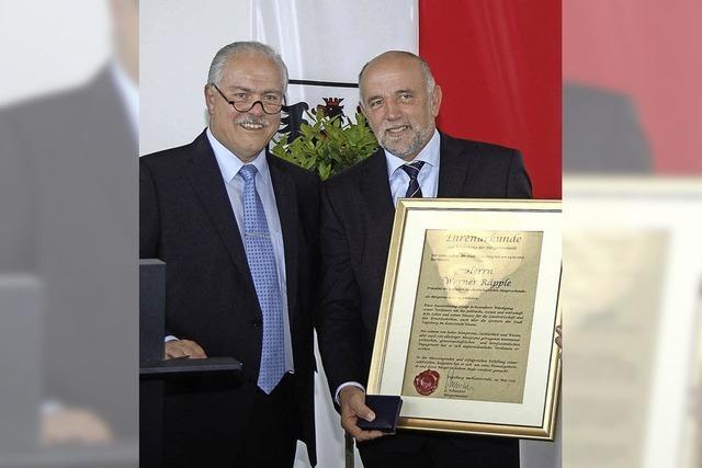 Zwei Auszeichnungen für Werner Räpple