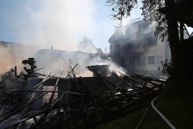Schreinerei und Haus in Diersburg abgebrannt