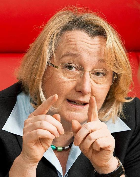 Wissenschaftsministerin Theresia Bauer (Grüne)  | Foto: dpa