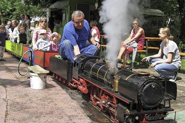 Die Dampfbahn Auenheim bei Kehl fährt am Sonntag