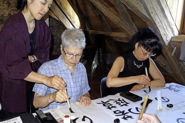 Kalligraphie-Workshop im Haus Fischerzunft
